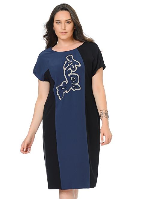 Allyco Plus Elbise Lacivert